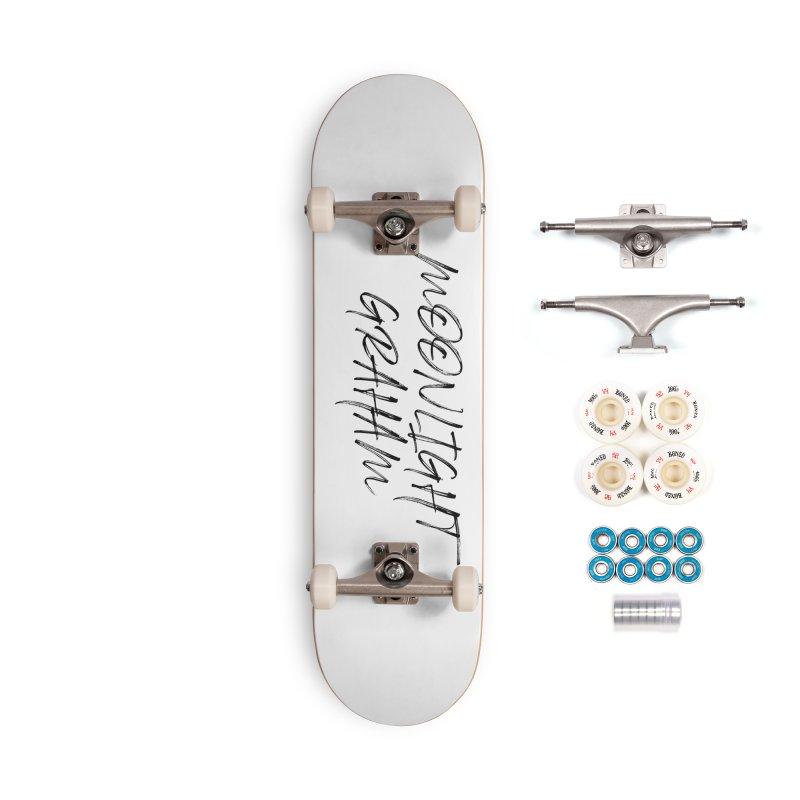 Moonlight Graham Handwritten Accessories Skateboard by moonlightgraham's Artist Shop