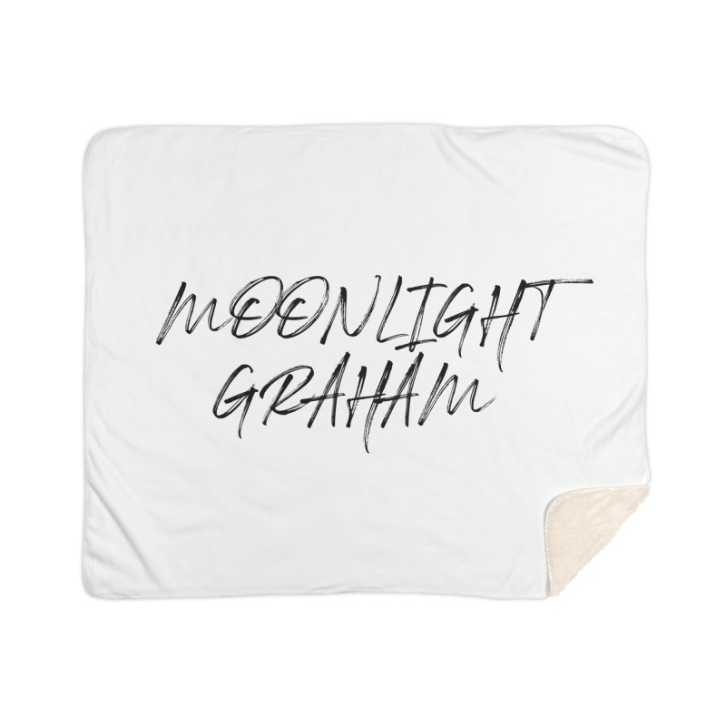 Moonlight Graham Handwritten Home Sherpa Blanket Blanket by moonlightgraham's Artist Shop