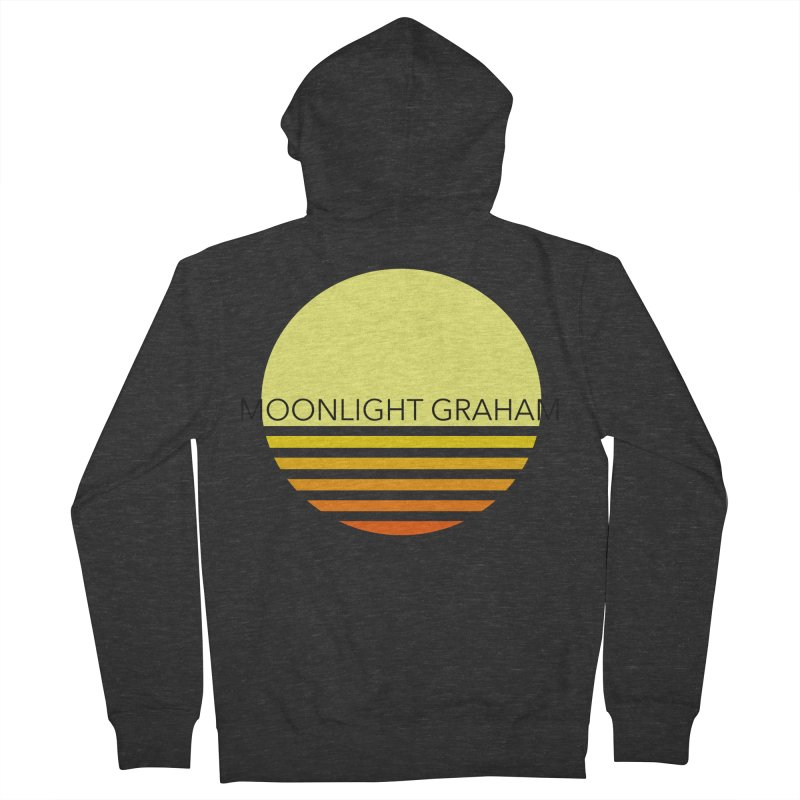 Before The Sun Black Text Men's French Terry Zip-Up Hoody by moonlightgraham's Artist Shop