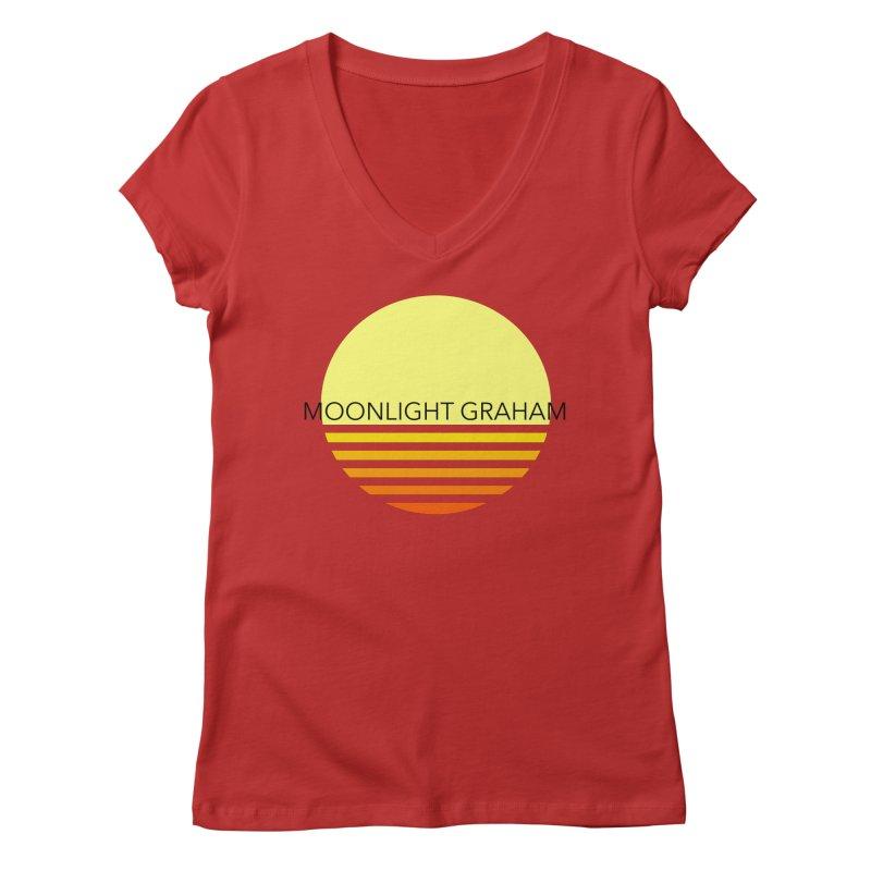 Before The Sun Black Text Women's Regular V-Neck by moonlightgraham's Artist Shop