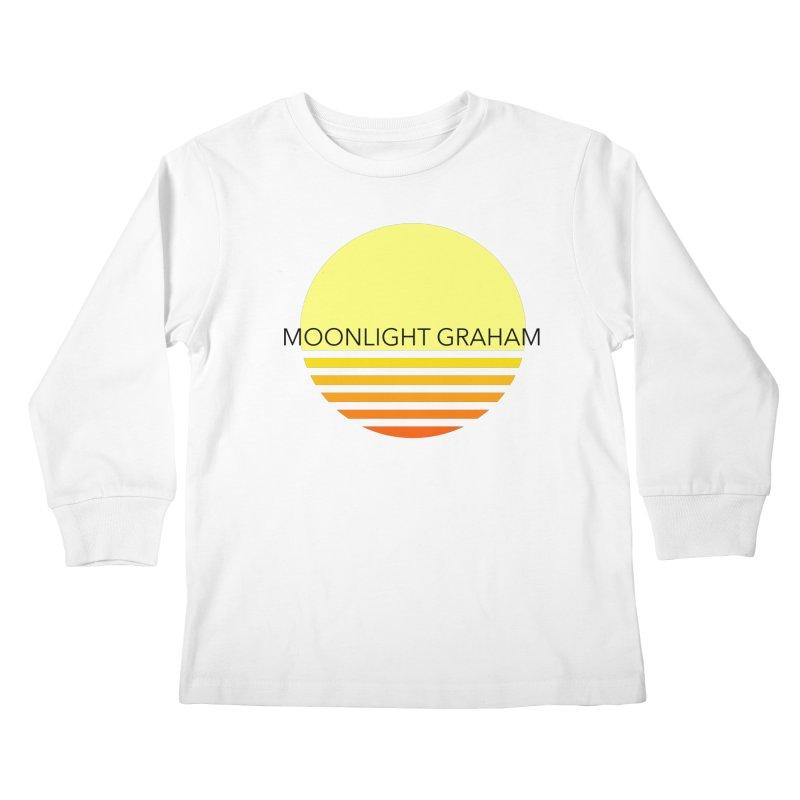 Before The Sun Black Text Kids Longsleeve T-Shirt by moonlightgraham's Artist Shop