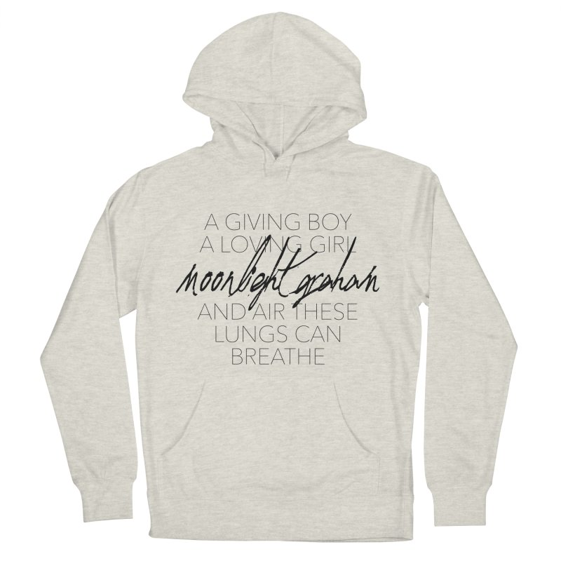 Before The Sun Lyrics Women's French Terry Pullover Hoody by moonlightgraham's Artist Shop