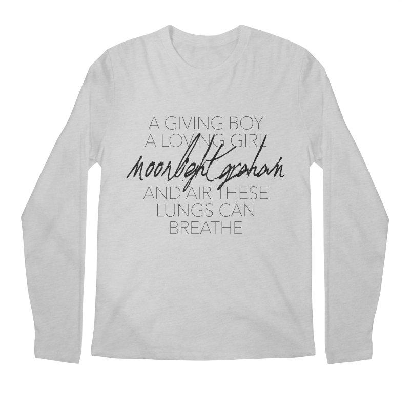 Before The Sun Lyrics Men's Regular Longsleeve T-Shirt by moonlightgraham's Artist Shop