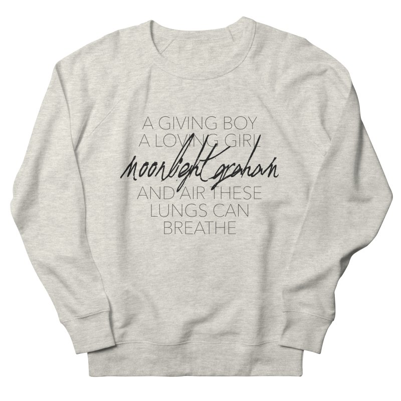 Before The Sun Lyrics Men's French Terry Sweatshirt by moonlightgraham's Artist Shop