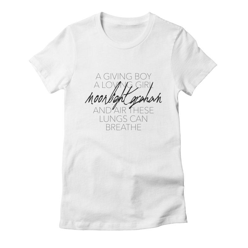 Before The Sun Lyrics Women's Fitted T-Shirt by moonlightgraham's Artist Shop