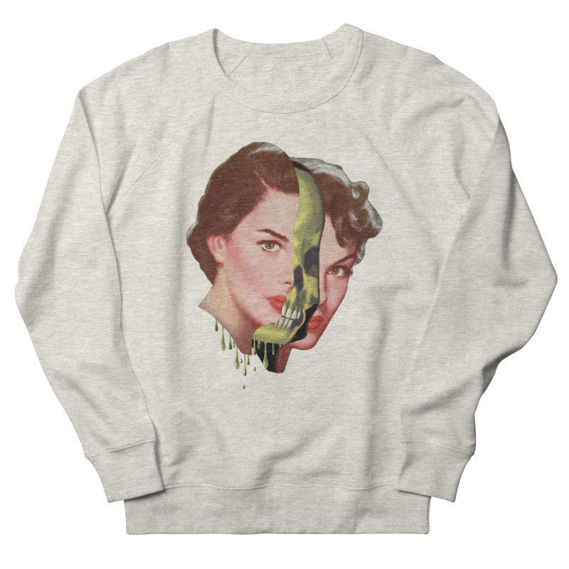 Lady Skull Women's French Terry Sweatshirt by Moon Patrol