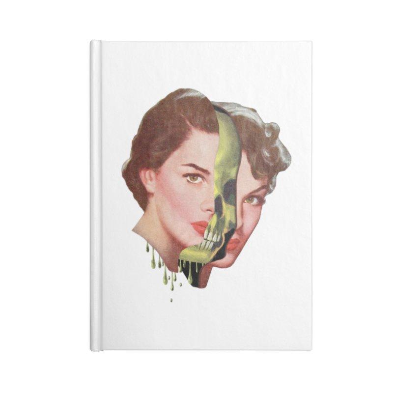 Lady Skull Accessories Blank Journal Notebook by Moon Patrol