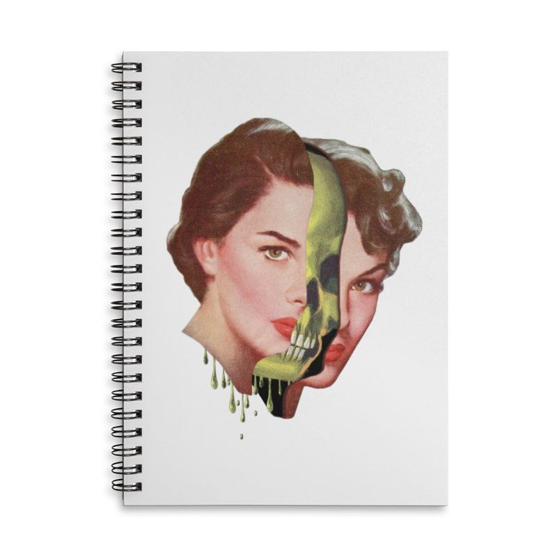 Lady Skull Accessories Lined Spiral Notebook by Moon Patrol