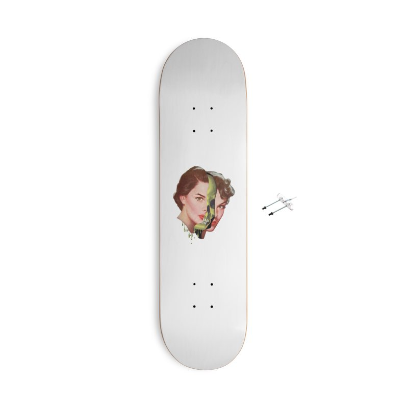 Lady Skull Accessories With Hanging Hardware Skateboard by Moon Patrol