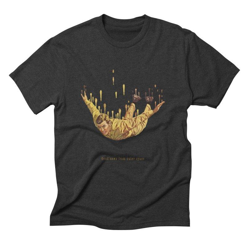 Free Fall Men's Triblend T-Shirt by Moon Patrol
