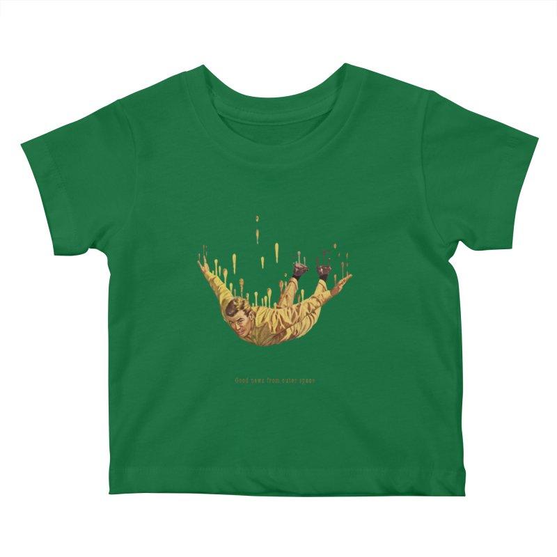 Free Fall Kids Baby T-Shirt by Moon Patrol