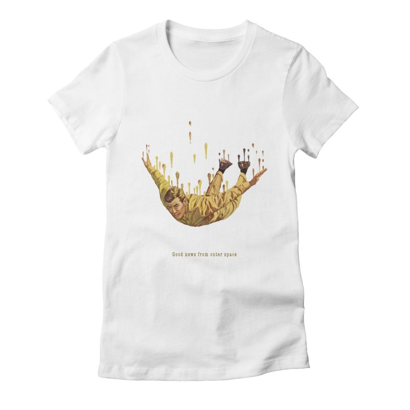 Free Fall Women's Fitted T-Shirt by Moon Patrol