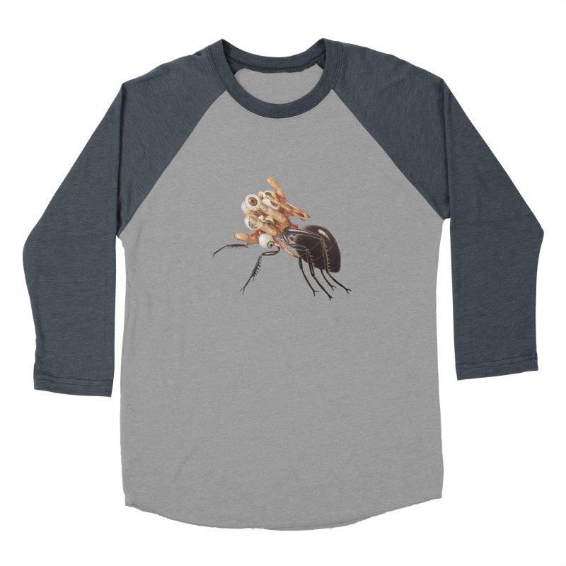 Mutant Ant Men's Baseball Triblend Longsleeve T-Shirt by Moon Patrol