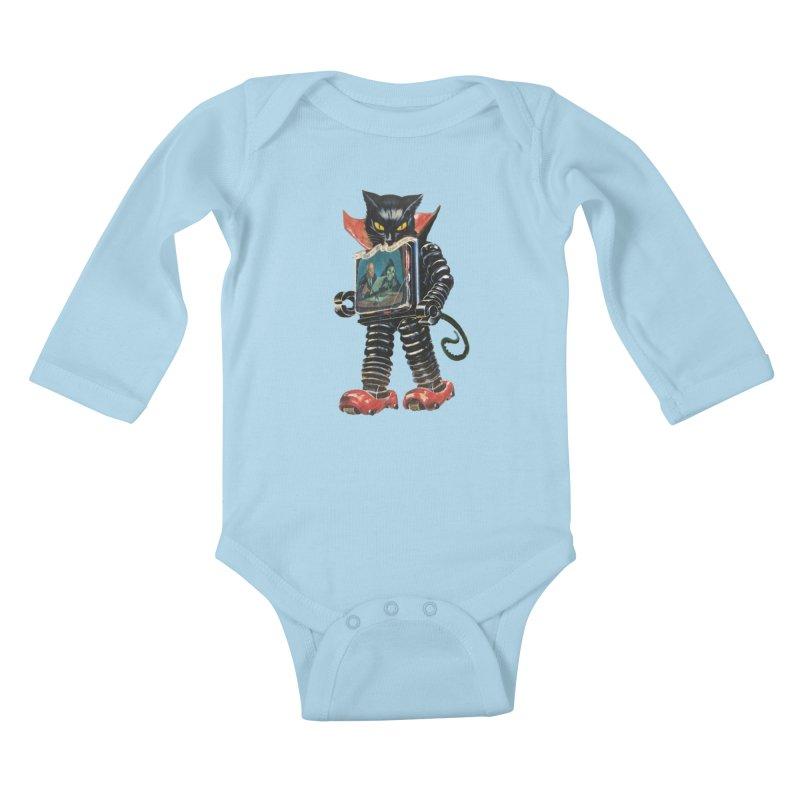 Nightmare Machine Kids Baby Longsleeve Bodysuit by Moon Patrol
