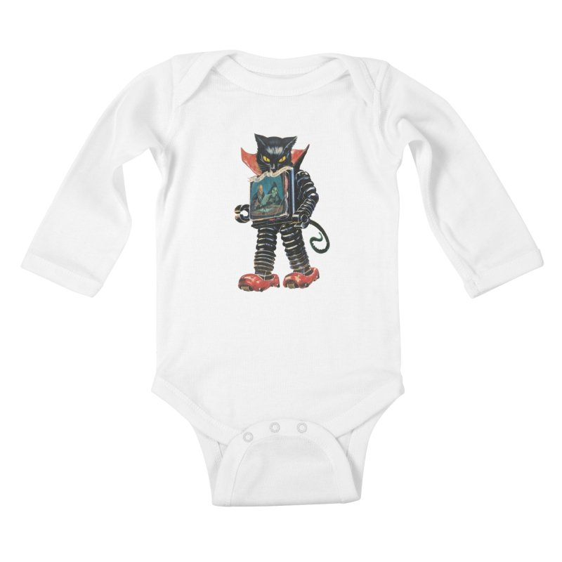 Nightmare Machine Kids Baby Longsleeve Bodysuit by Moon Patrol