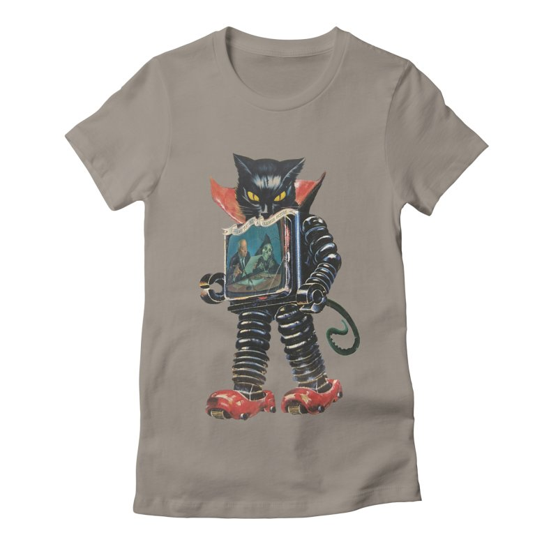 Nightmare Machine Women's Fitted T-Shirt by Moon Patrol
