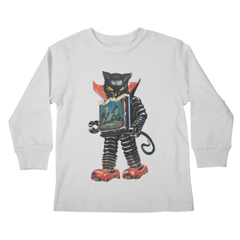 Nightmare Machine Kids Longsleeve T-Shirt by Moon Patrol