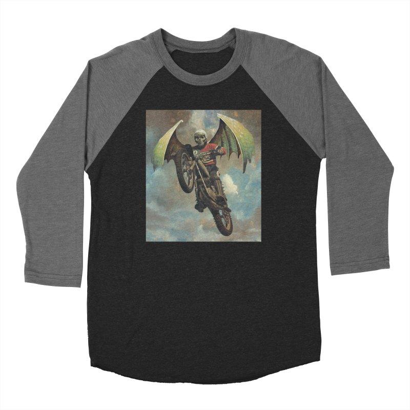 Moto-Reaper Men's Baseball Triblend Longsleeve T-Shirt by Moon Patrol