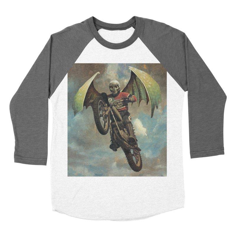 Moto-Reaper Women's Baseball Triblend Longsleeve T-Shirt by Moon Patrol