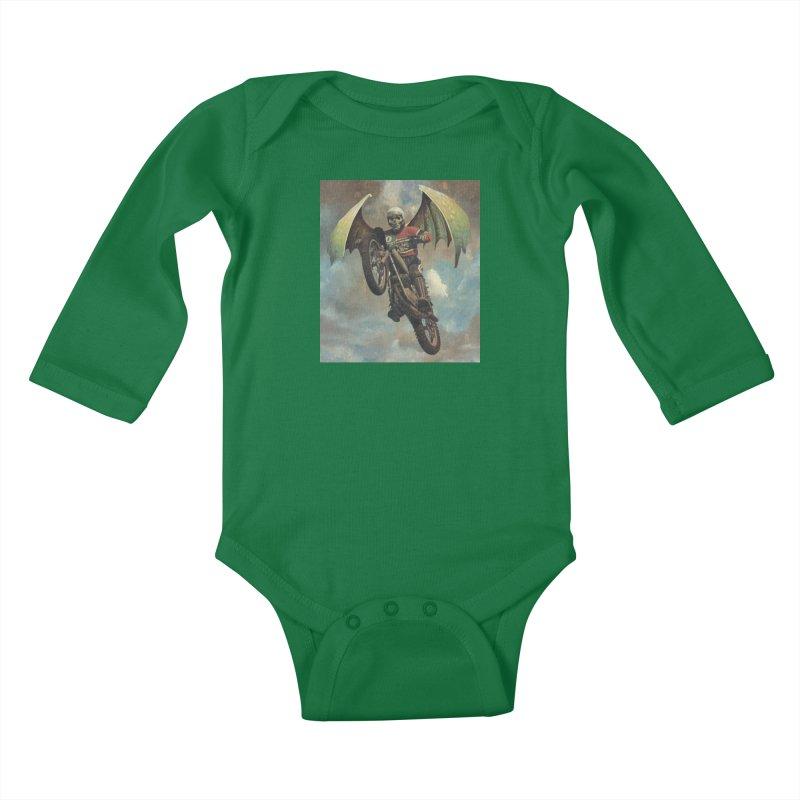 Moto-Reaper Kids Baby Longsleeve Bodysuit by Moon Patrol