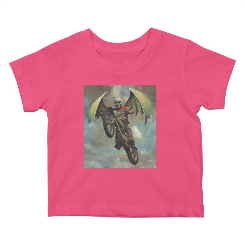 Moto-Reaper Kids Baby T-Shirt by Moon Patrol