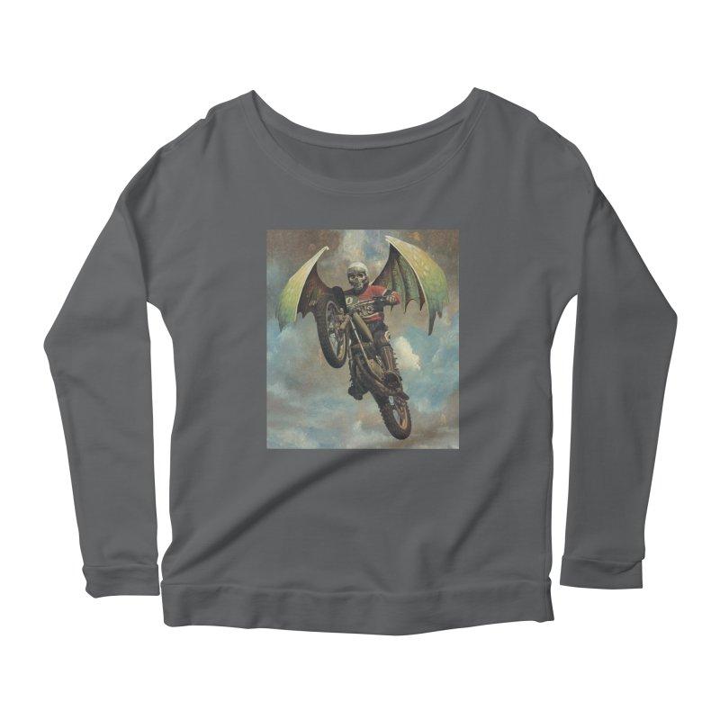 Moto-Reaper Women's Scoop Neck Longsleeve T-Shirt by Moon Patrol