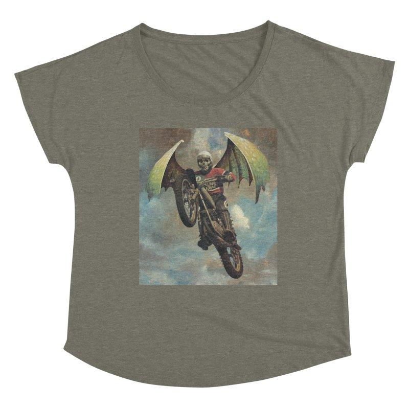 Moto-Reaper Women's Dolman Scoop Neck by Moon Patrol