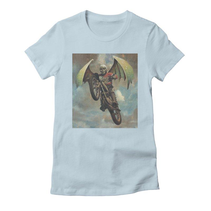 Moto-Reaper Women's Fitted T-Shirt by Moon Patrol