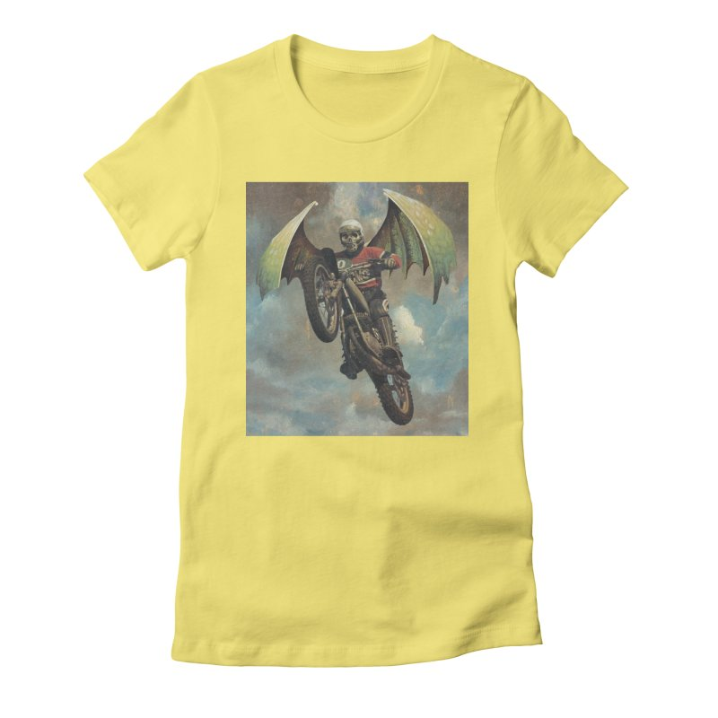 Moto-Reaper Women's Fitted T-Shirt by Moon Patrol