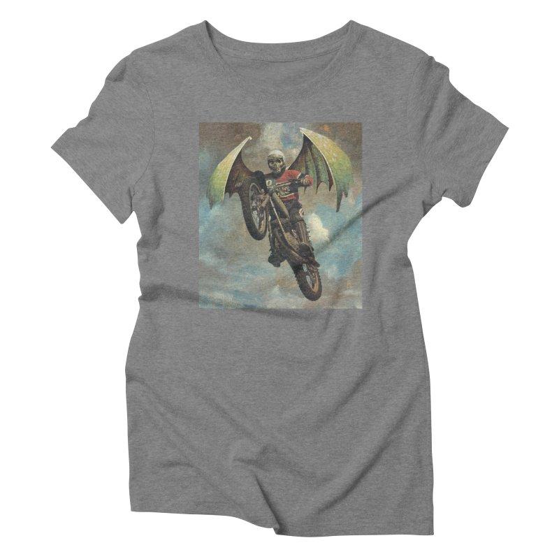 Moto-Reaper Women's Triblend T-Shirt by Moon Patrol