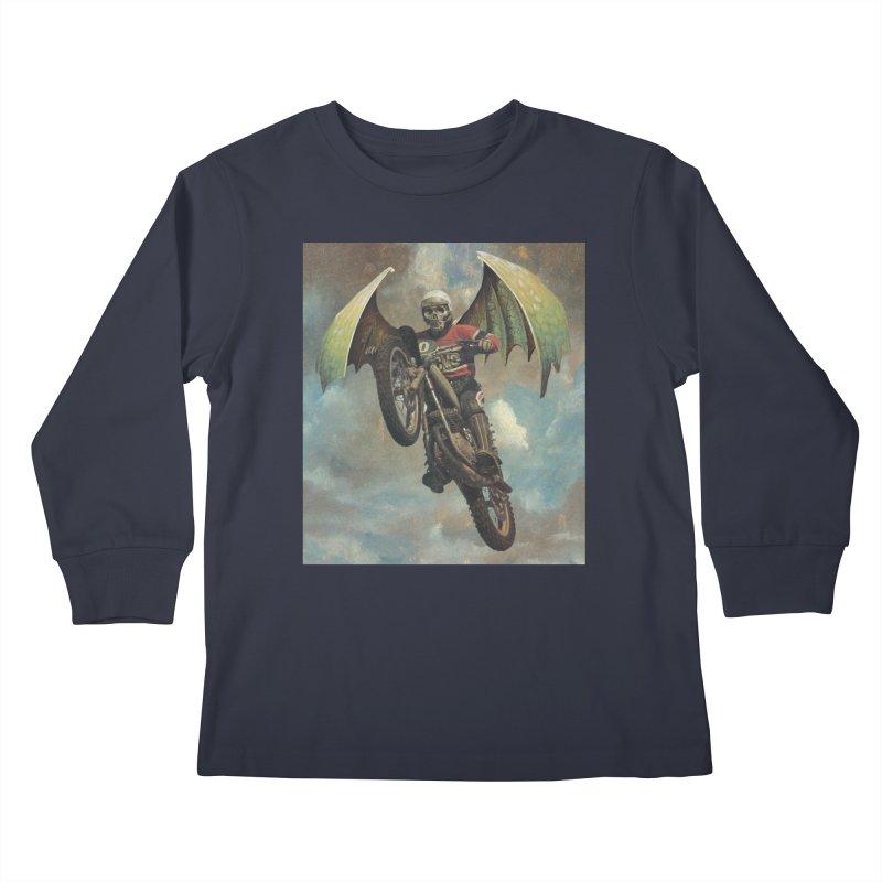 Moto-Reaper Kids Longsleeve T-Shirt by Moon Patrol