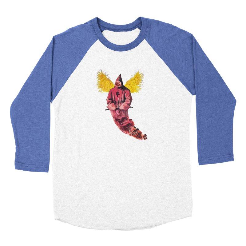 Red Priest Men's Baseball Triblend Longsleeve T-Shirt by Moon Patrol