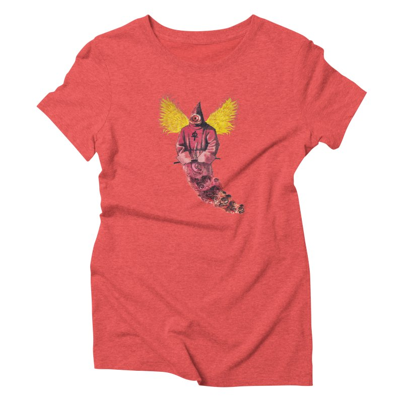 Red Priest Women's Triblend T-Shirt by Moon Patrol