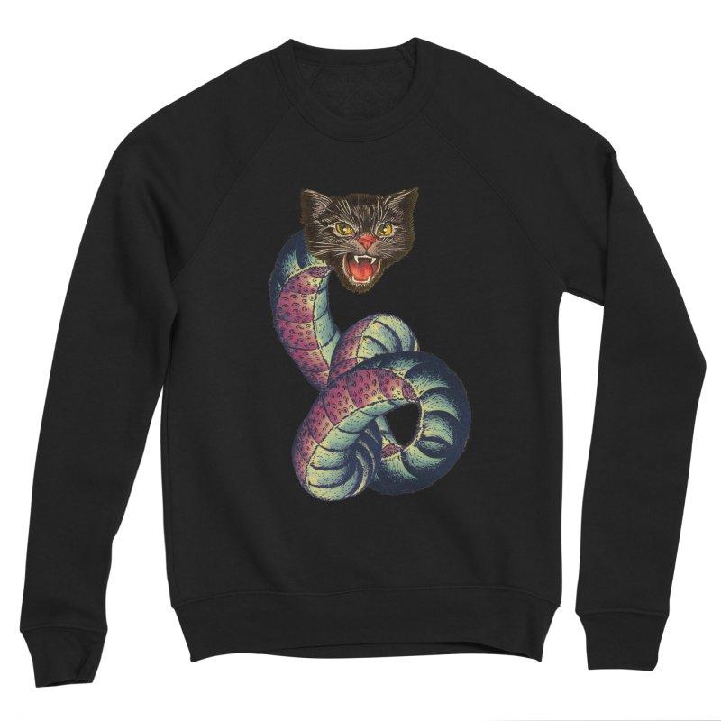 Snake-Cat Men's Sponge Fleece Sweatshirt by Moon Patrol