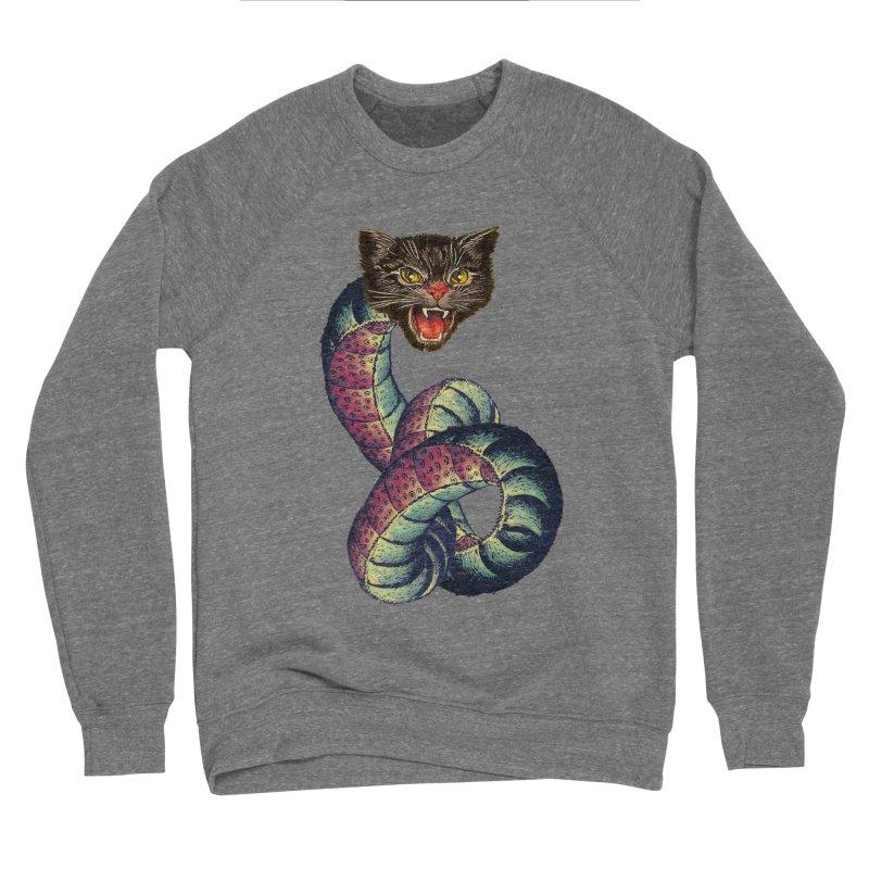 Snake-Cat Women's Sponge Fleece Sweatshirt by Moon Patrol