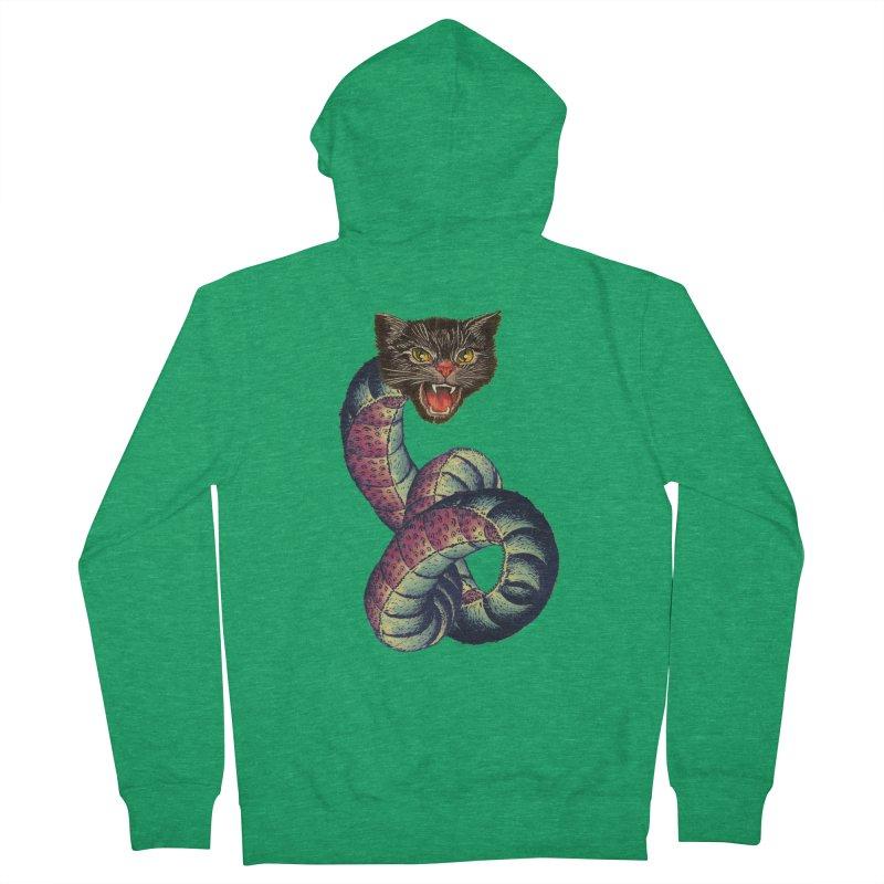 Snake-Cat Women's Zip-Up Hoody by Moon Patrol