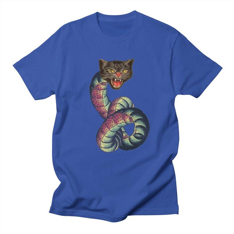 Snake-Cat Men's Regular T-Shirt by Moon Patrol