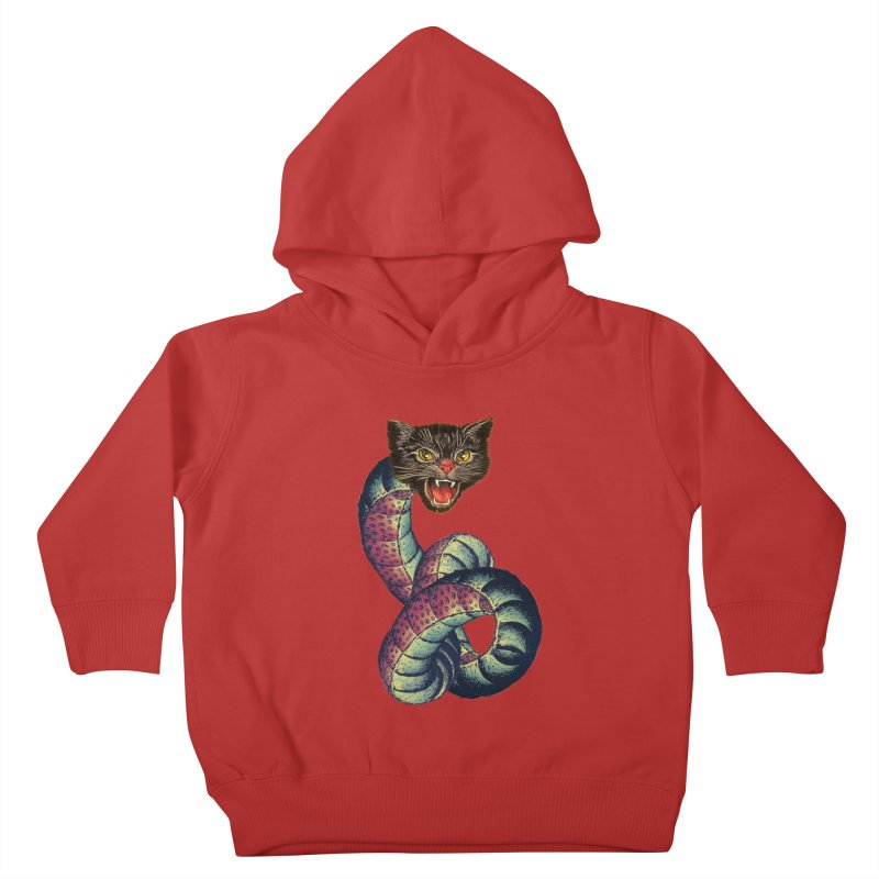 Snake-Cat Kids Toddler Pullover Hoody by Moon Patrol