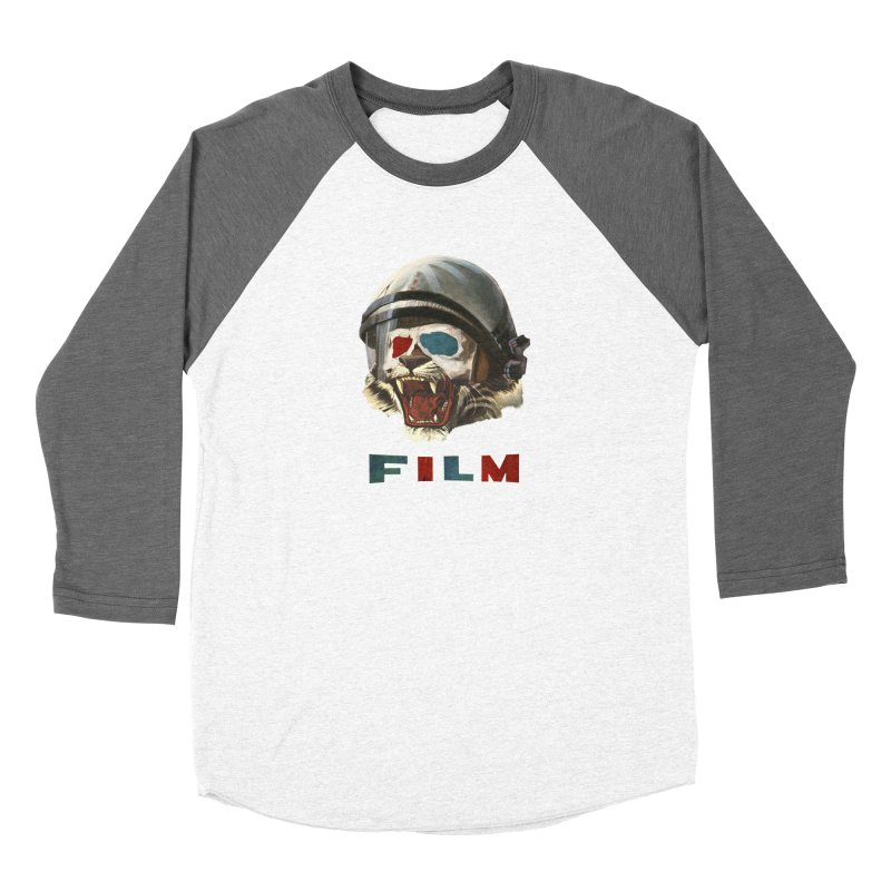 Film Tiger Men's Baseball Triblend Longsleeve T-Shirt by Moon Patrol