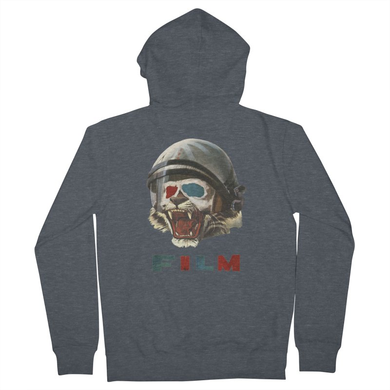 Film Tiger Men's French Terry Zip-Up Hoody by Moon Patrol
