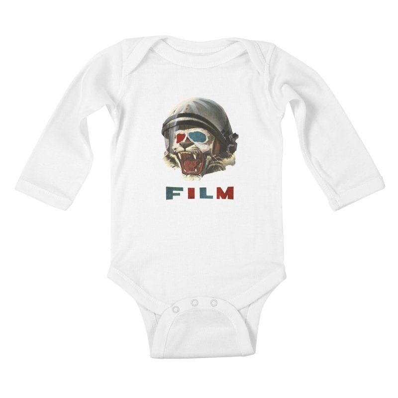 Film Tiger Kids Baby Longsleeve Bodysuit by Moon Patrol
