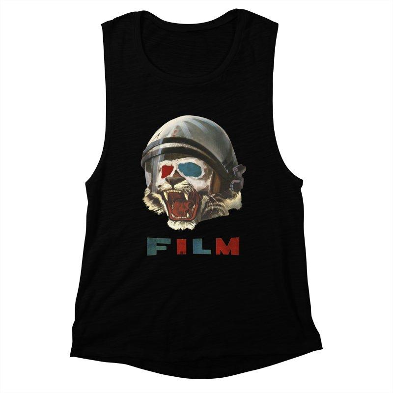 Film Tiger Women's Muscle Tank by Moon Patrol