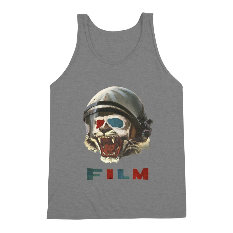 Film Tiger Men's Triblend Tank by Moon Patrol