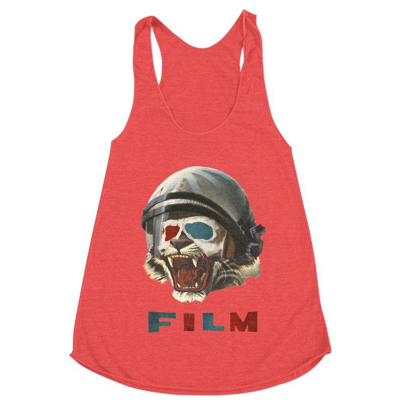 Film Tiger Women's Racerback Triblend Tank by Moon Patrol