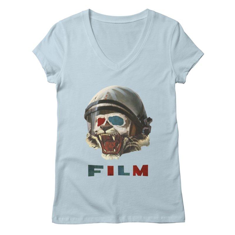 Film Tiger Women's Regular V-Neck by Moon Patrol