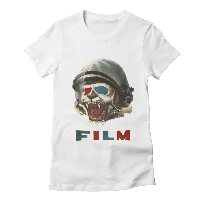 Film Tiger Women's Fitted T-Shirt by Moon Patrol