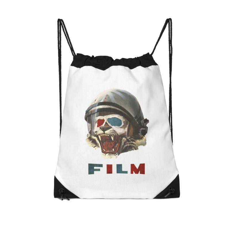 Film Tiger Accessories Drawstring Bag Bag by Moon Patrol