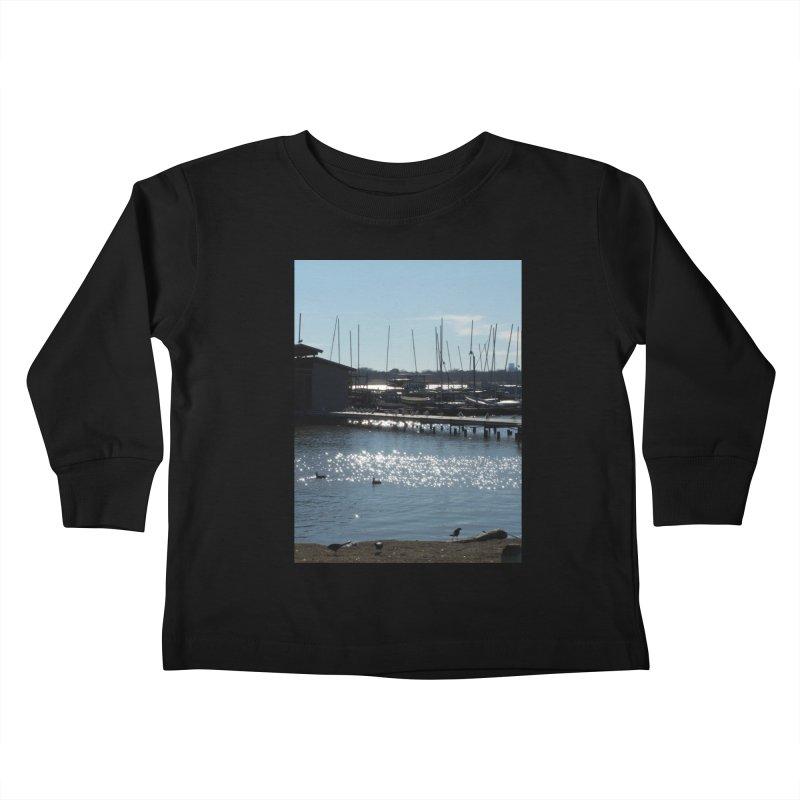 Birds and Boats Kids Toddler Longsleeve T-Shirt by Moon Pie Studio's Artist Shop