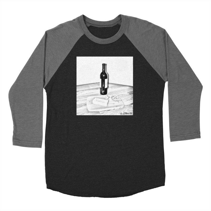 Wine and Cheese Women's Longsleeve T-Shirt by Moon Pie Studio's Artist Shop