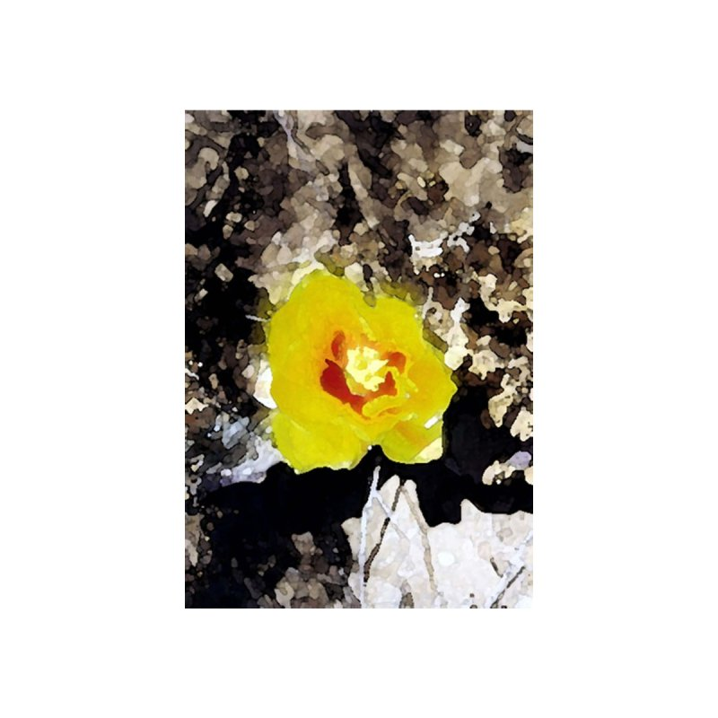 Yellow Cacti Flower Kids Baby T-Shirt by Moon Pie Studio's Artist Shop